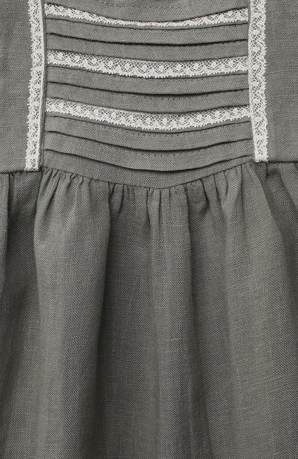 Детское льняной комбинезон TARTINE ET CHOCOLAT хаки цвета, арт. TS33001/1M-1A | Фото 3