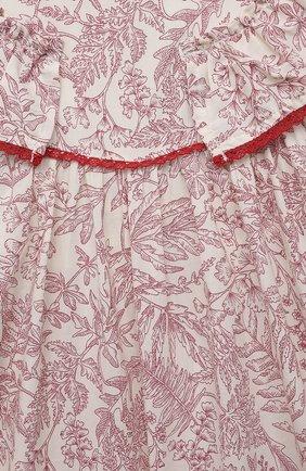 Детское хлопковый комбинезон TARTINE ET CHOCOLAT красного цвета, арт. TS33051/18M-3A | Фото 3