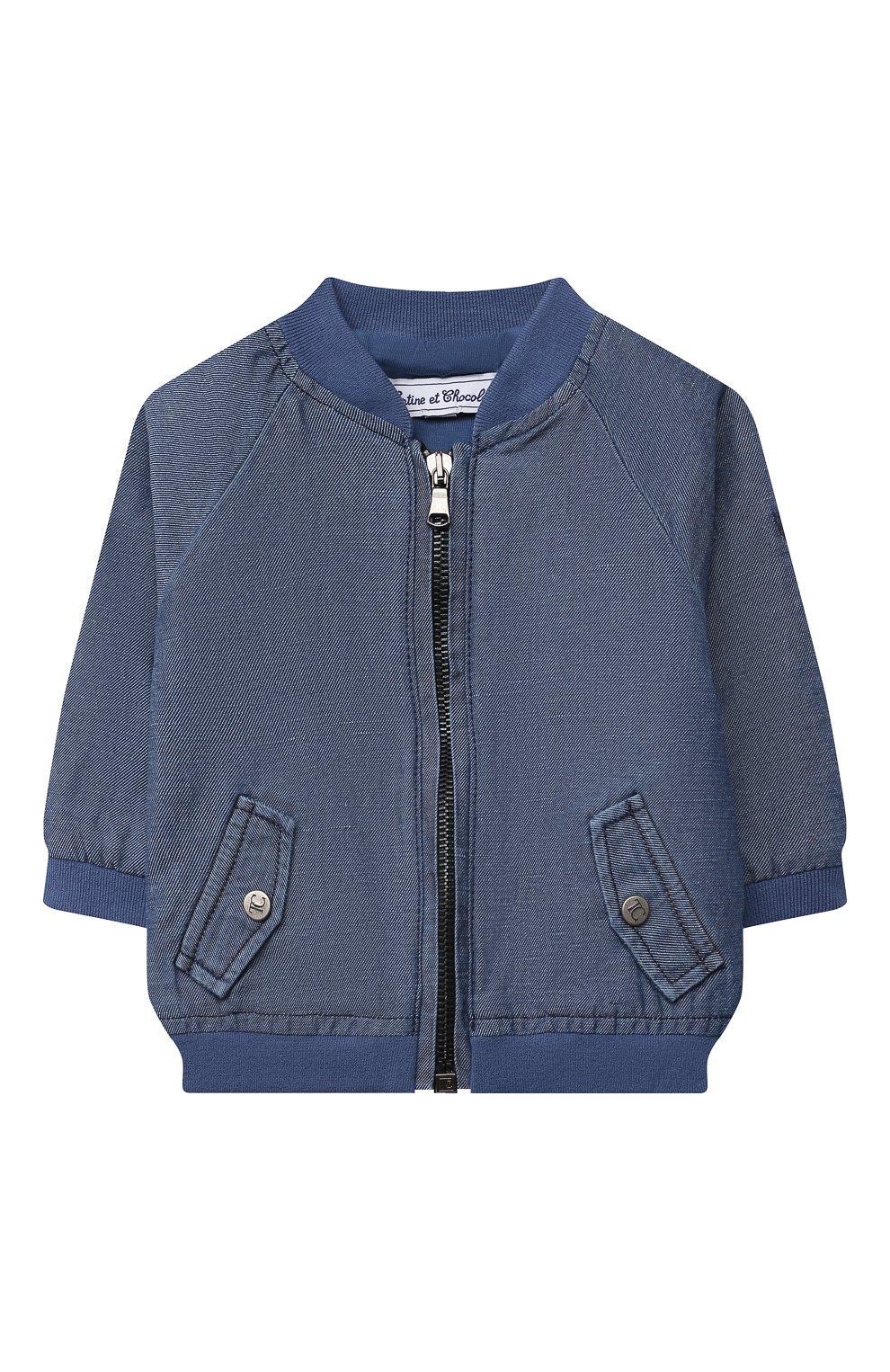 Детского джинсовая куртка TARTINE ET CHOCOLAT темно-синего цвета, арт. TS41001/1M-9M   Фото 1