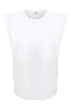 Женская хлопковая футболка THE FRANKIE SHOP белого цвета, арт. TS EVA KR 07 | Фото 1