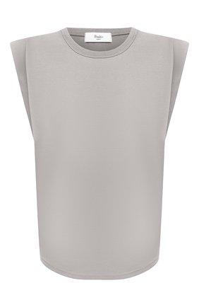 Женская хлопковая футболка THE FRANKIE SHOP серого цвета, арт. TS EVA KR 07 | Фото 1