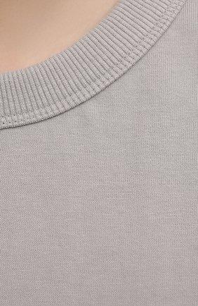 Женская хлопковая футболка THE FRANKIE SHOP серого цвета, арт. TS EVA KR 07 | Фото 5