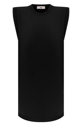 Женское хлопковое платье THE FRANKIE SHOP черного цвета, арт. DR TIN KR 08 | Фото 1