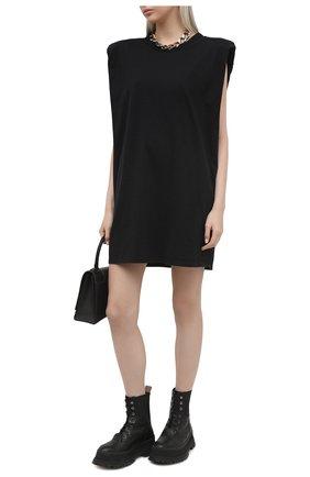 Женское хлопковое платье THE FRANKIE SHOP черного цвета, арт. DR TIN KR 08 | Фото 2