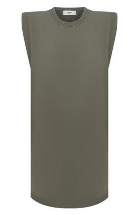 Женское хлопковое платье THE FRANKIE SHOP хаки цвета, арт. DR TIN KR 08 | Фото 1