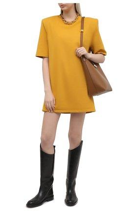 Женское хлопковое платье THE FRANKIE SHOP желтого цвета, арт. DR SEA KR 09 | Фото 2