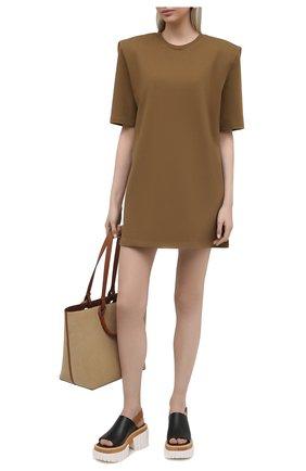 Женское хлопковое платье THE FRANKIE SHOP коричневого цвета, арт. DR SEA KR 10 | Фото 2