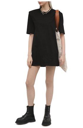 Женское хлопковое платье THE FRANKIE SHOP черного цвета, арт. DR SEA KR 09 | Фото 2