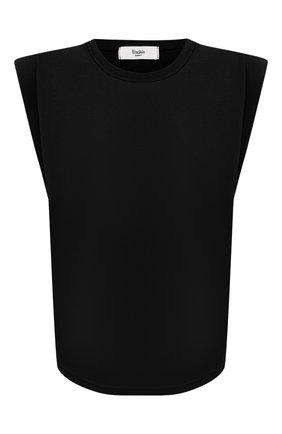 Женская хлопковая футболка THE FRANKIE SHOP черного цвета, арт. TS EVA KR 07 | Фото 1