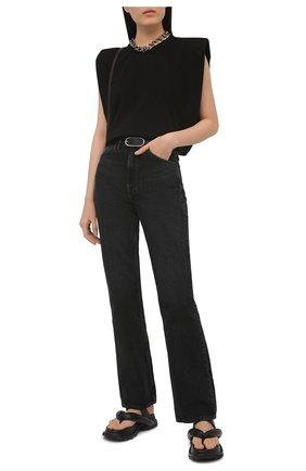 Женская хлопковая футболка THE FRANKIE SHOP черного цвета, арт. TS EVA KR 07 | Фото 2