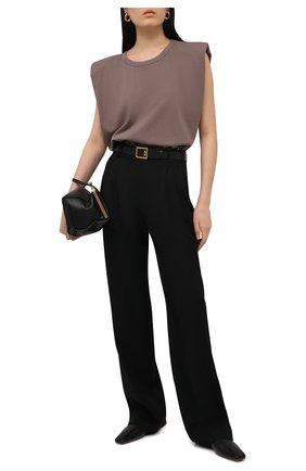 Женская хлопковая футболка THE FRANKIE SHOP коричневого цвета, арт. TS EVA KR 07 | Фото 2