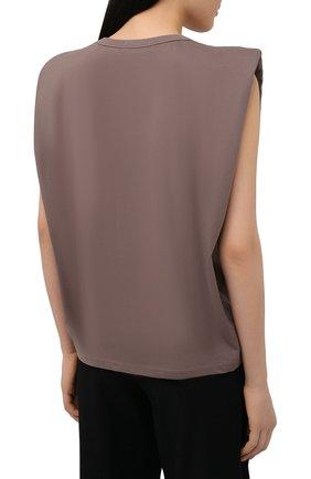 Женская хлопковая футболка THE FRANKIE SHOP коричневого цвета, арт. TS EVA KR 07 | Фото 4
