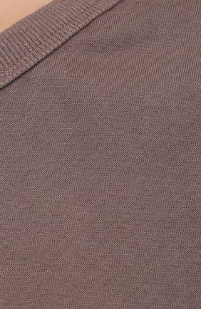 Женская хлопковая футболка THE FRANKIE SHOP коричневого цвета, арт. TS EVA KR 07 | Фото 5