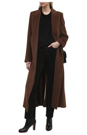 Женские кожаные ботильоны adox 85 CHRISTIAN LOUBOUTIN черного цвета, арт. 3170603/AD0X 85   Фото 2