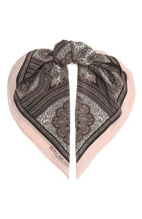 Женский шелковый платок verona BALMUIR розового цвета, арт. 178300   Фото 1