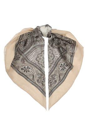 Женский шелковый платок como BALMUIR бежевого цвета, арт. 178000   Фото 1