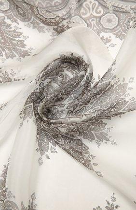 Женский шелковый платок como BALMUIR бежевого цвета, арт. 178000   Фото 2