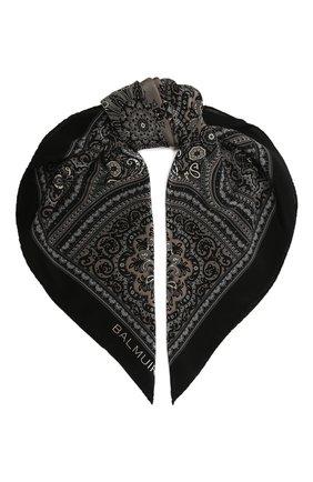 Женский шелковый платок verona BALMUIR черного цвета, арт. 178300   Фото 1