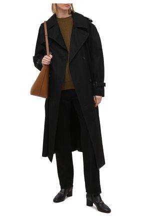 Женские кожаные ботильоны  SALVATORE FERRAGAMO черного цвета, арт. Z-07411911C   Фото 2