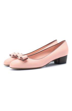 Женские кожаные туфли SALVATORE FERRAGAMO розового цвета, арт. Z-07408411C   Фото 1