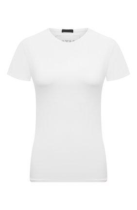 Женская хлопковая футболка ATM ANTHONY THOMAS MELILLO белого цвета, арт. AW1238-XA | Фото 1