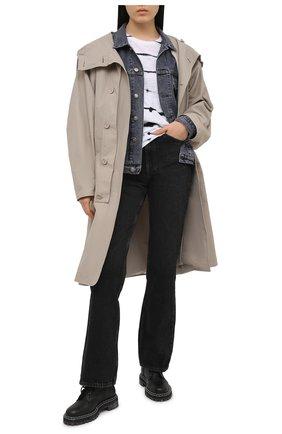 Женская хлопковый лонгслив ATM ANTHONY THOMAS MELILLO черно-белого цвета, арт. AW1047-FK30 | Фото 2