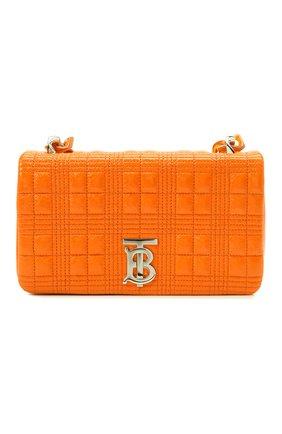 Женская сумка lola BURBERRY оранжевого цвета, арт. 8040127 | Фото 1 (Материал: Натуральная кожа; Размер: small; Сумки-технические: Сумки через плечо)