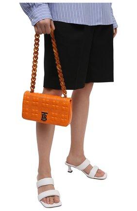 Женская сумка lola BURBERRY оранжевого цвета, арт. 8040127 | Фото 2 (Материал: Натуральная кожа; Размер: small; Сумки-технические: Сумки через плечо)