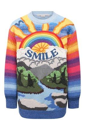 Женский свитер из шерсти и хлопка STELLA MCCARTNEY разноцветного цвета, арт. 602887/S2238 | Фото 1
