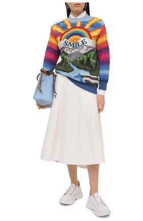 Женский свитер из шерсти и хлопка STELLA MCCARTNEY разноцветного цвета, арт. 602887/S2238 | Фото 2
