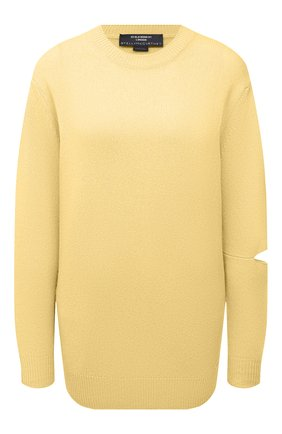 Женский кашемировый пуловер STELLA MCCARTNEY желтого цвета, арт. 601883/S7231 | Фото 1