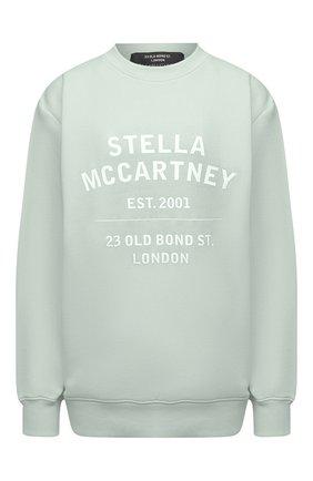 Женский хлопковый свитшот STELLA MCCARTNEY светло-зеленого цвета, арт. 601847/SMP83 | Фото 1