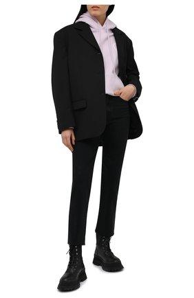 Женский хлопковое худи STELLA MCCARTNEY сиреневого цвета, арт. 601846/SMP83 | Фото 2