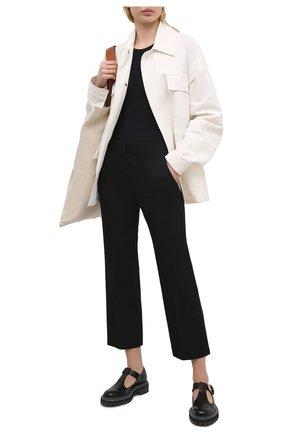 Женские шерстяные брюки STELLA MCCARTNEY черного цвета, арт. 529866/SPA28 | Фото 2