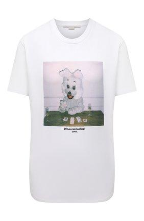 Женская хлопковая футболка STELLA MCCARTNEY белого цвета, арт. 381701/S0W63 | Фото 1