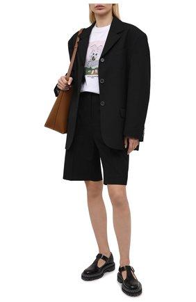 Женская хлопковая футболка STELLA MCCARTNEY белого цвета, арт. 381701/S0W63 | Фото 2