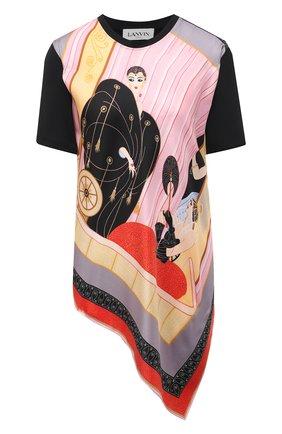 Женская футболка LANVIN разноцветного цвета, арт. RW-T0691J-4792-P21 | Фото 1