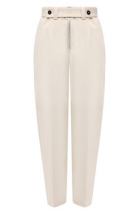 Женские хлопковые брюки JIL SANDER кремвого цвета, арт. JSPS311205-WS241600 | Фото 1