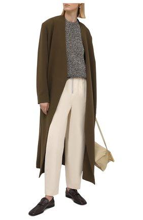 Женские хлопковые брюки JIL SANDER кремвого цвета, арт. JSPS311205-WS241600 | Фото 2