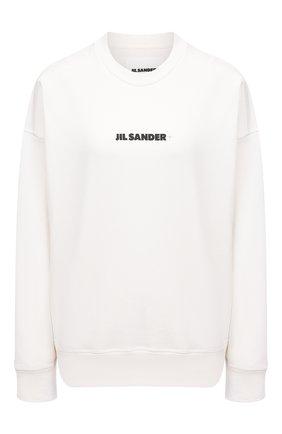 Женский хлопковый свитшот JIL SANDER белого цвета, арт. JPPS707513-WS248608 | Фото 1