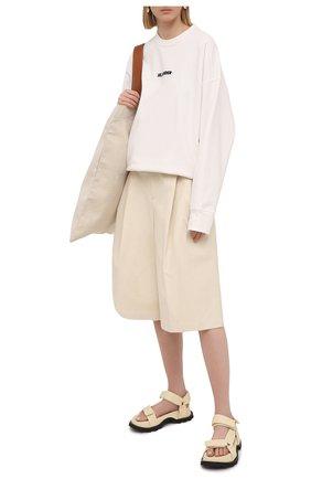 Женский хлопковый свитшот JIL SANDER белого цвета, арт. JPPS707513-WS248608 | Фото 2