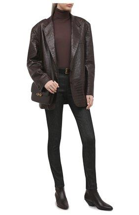 Женские джинсы TOM FORD черного цвета, арт. PAD056-DEX095 | Фото 2 (Длина (брюки, джинсы): Стандартные; Материал внешний: Хлопок, Деним; Стили: Кэжуэл; Кросс-КТ: Деним; Силуэт Ж (брюки и джинсы): Узкие)