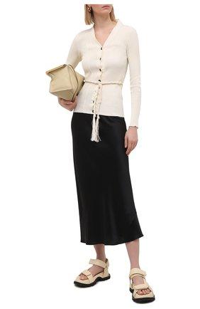 Женская шелковая юбка DOROTHEE SCHUMACHER черного цвета, арт. 049504/SENSE 0F SHINE | Фото 2