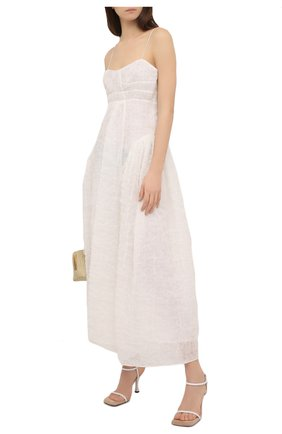 Женское платье CECILIE BAHNSEN белого цвета, арт. SC21-0041 | Фото 2