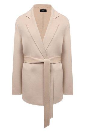Женское пальто из шерсти и кашемира JOSEPH бежевого цвета, арт. JF005234 | Фото 1