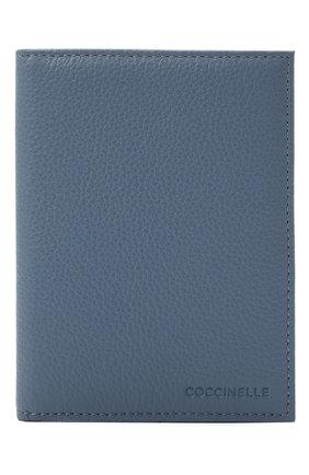 Женские кожаная обложка для паспорта COCCINELLE синего цвета, арт. E2 HL0 12 91 01   Фото 1