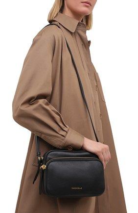 Женская сумка lea COCCINELLE черного цвета, арт. E1 H60 15 01 01   Фото 2