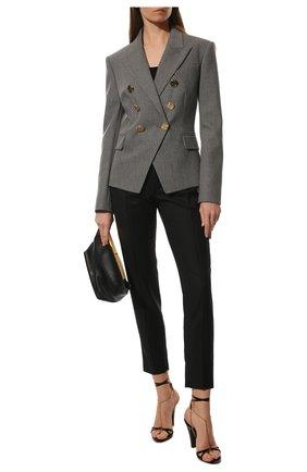 Женский шерстяной жакет BALMAIN серого цвета, арт. VF0SG000/W128 | Фото 2