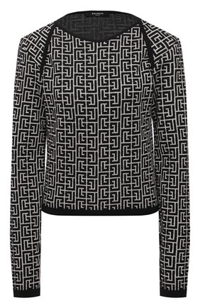 Пуловер из шерсти и льна | Фото №1