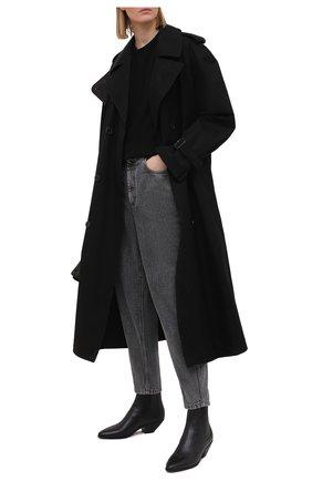 Женские джинсы BRUNELLO CUCINELLI черного цвета, арт. MA095P5654 | Фото 2 (Материал внешний: Хлопок; Длина (брюки, джинсы): Стандартные; Стили: Кэжуэл; Кросс-КТ: Деним; Силуэт Ж (брюки и джинсы): Бойфренды)